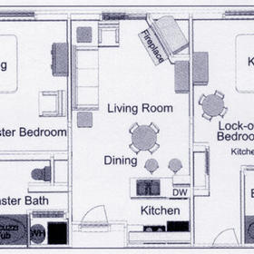 Club de Soleil - Two-Bedroom Floor Plan