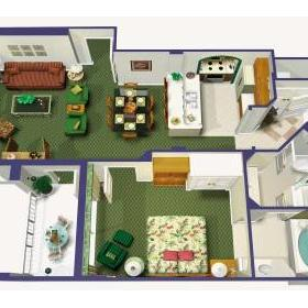 One-bedroom unit floorplan