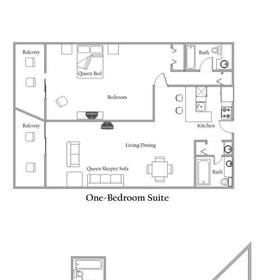 Sands Ocean Club - Unit Floor Plan