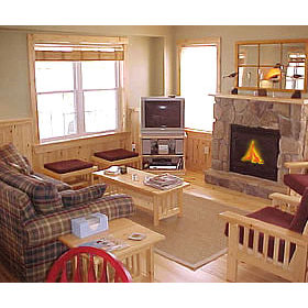 Tory's Landing - Family room inside a unit