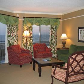 Marriott's Grande Ocean - unit living area with balcony