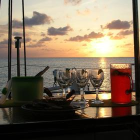 Trade Winds Cruise Club Virgin Islands - Sunset Cocktails