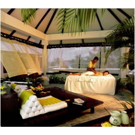 Angsana Resort & Spa: open-air pavilion for spa services