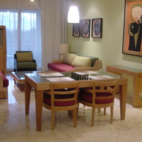 The Grand Mayan Riviera Maya - Unit Dining & Living Areas