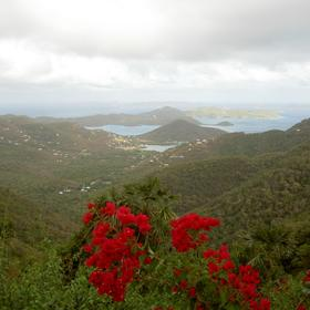 Area scenery: the view from St. John, just a ferry ride away