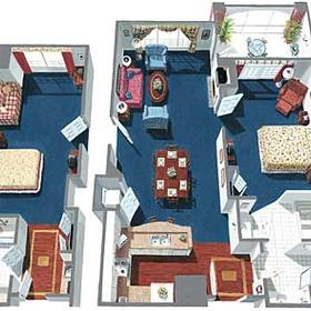 Marriott's Manor Club at Ford's Colony - Unit Floor Plan