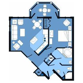 One Bedroom Layout at Disney's Vero Beach Resort