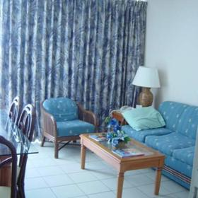 La Cabana Beach & Racquet Club - Unit Living Area