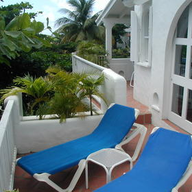 Windjammer Landing Villa Beach Resort - Unit Patio
