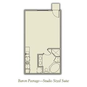 Henley Manor - Studio Floor Plan
