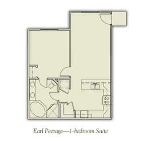 Henley Manor - One-Bedroom Floor Plan