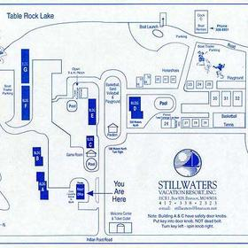 Map of the Still Waters Vacation Resort