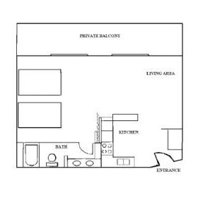 Studio Unit Layout
