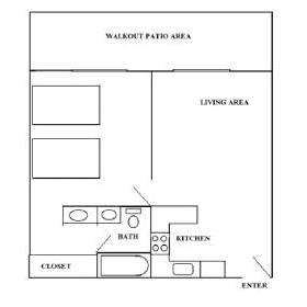 Two Bedroom Layout (may be variations)