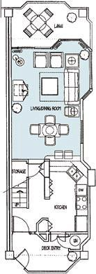 Paniolo Greens - Unit Downstairs Floor Plan