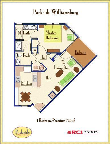 Parkside Resort - One-Bedroom Premium Floor Plan